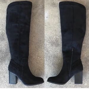 Soda Black Heeled Boots